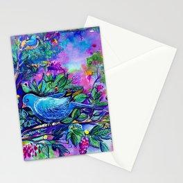 O Passaro Azul da Felicidade Stationery Cards