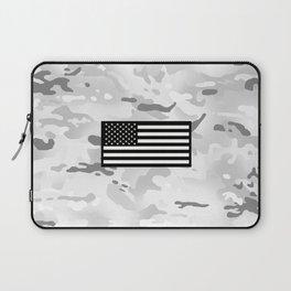 Arctic Camouflage: Black Flag Laptop Sleeve