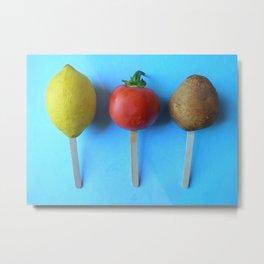 Lemon head, Tomato Head, Potato head... Metal Print