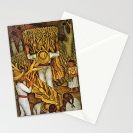 La Fiesta del Maiz by Diego Rivera Stationery Cards