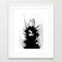 wrestling Framed Art Prints featuring Coiling and Wrestling. Dreaming of You by Rouble Rust