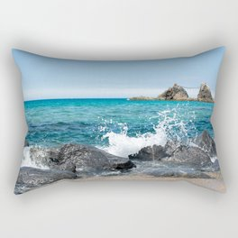wedded rocks at Futamigaura beach Japan Rectangular Pillow