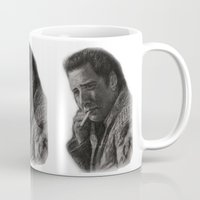 nicolas cage Mugs featuring WILD AT HEART - NICOLAS CAGE by William Wong