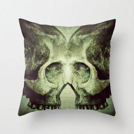 Skull to Skull Throw Pillow