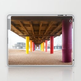 Pier with color painted columns on the beach Laptop & iPad Skin