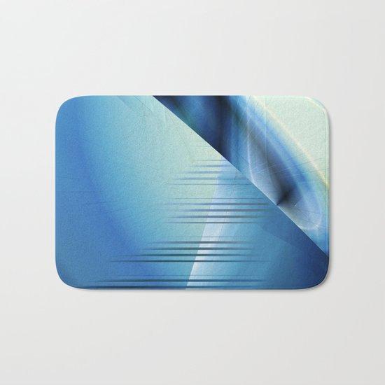 Blue abstract 2016 Bath Mat