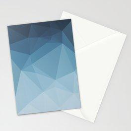 Low Poly Polygonal Geometric Design Blue 01 Stationery Cards