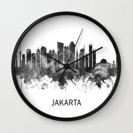 Jakarta Indonesia Skyline BW Wall Clock