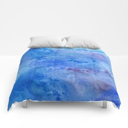 Mariana Trench Watercolor Texture Comforters