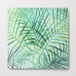 Tropical Greenery III Metal Print