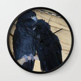 Black Cockatoos Wall Clock