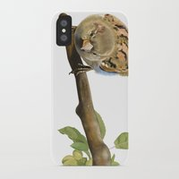sparrow iPhone & iPod Cases featuring sparrow by Alessandra Razzi Illustrazioni