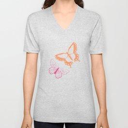 Butterfly pattern 005 Unisex V-Neck