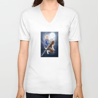 jack frost V-neck T-shirts featuring Jack Frost by SpaceMonolith