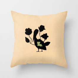 Louisiana - State Papercut Print Throw Pillow