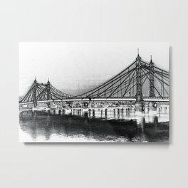 Albert Bridge London Digital Art Metal Print