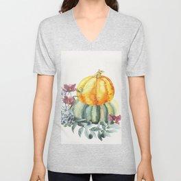 Pretty Pumpkins Unisex V-Neck