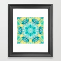 watercolor tie dye Framed Art Print