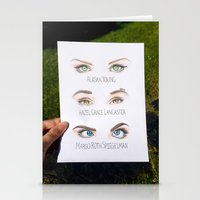 john green Stationery Cards featuring John Green Book Character Eyes by dancing_papers