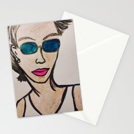 Glasses Lady 2, 2019 from MyMargins Stationery Cards