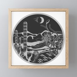 Nature in white and black Nature in the 1960s Framed Mini Art Print