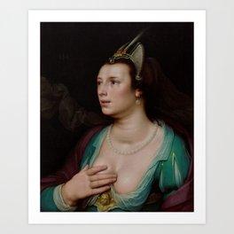 Cornelis Cornelisz van Haarlem - Venus Art Print
