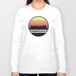 Honolulu Skyline Long Sleeve T-shirt