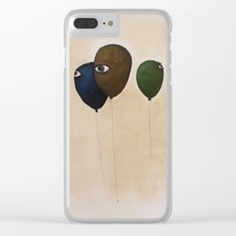 fly high wide eyes Clear iPhone Case