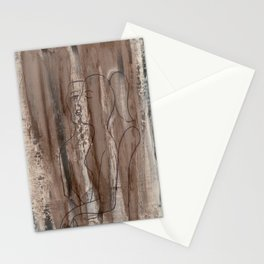 Kiss Me - Vintage - Modern Art Abstract - Picasso Style Stationery Cards