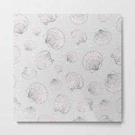 Elegant Sea Shell Art Metal Print