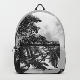 Rainforest Canopy - Tropical Sky Black and White Backpack