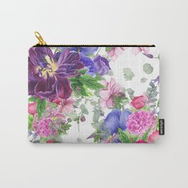 Floral print with tulips and anemones Carry-All Pouch