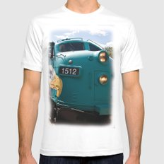 Train In Your Face MEDIUM Mens Fitted Tee White