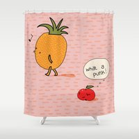 punk Shower Curtains featuring Punk by Peach it!
