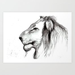 Just Thinking Art Print