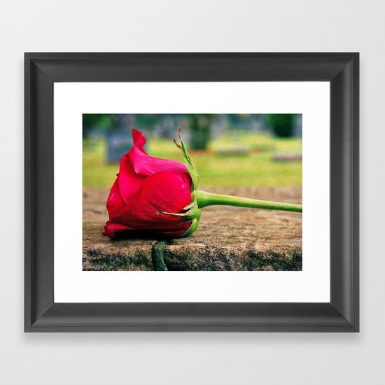 Rose aesthetics Framed Art Print