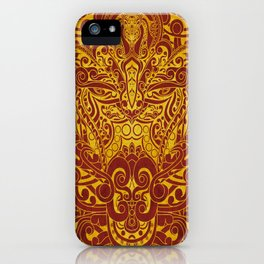 Balinese abstract art iPhone Case