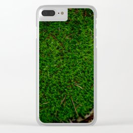 Bossy Mossy Clear iPhone Case