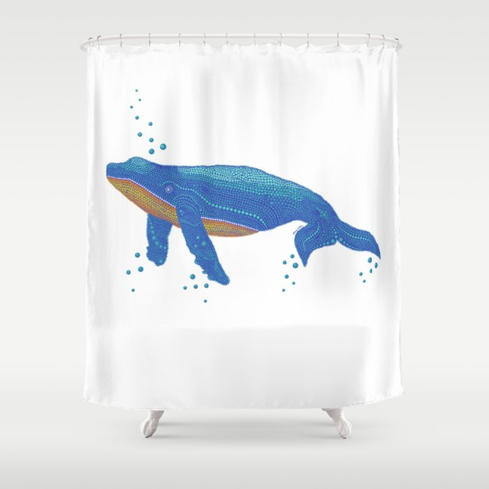 Spot A Whale Shower Curtain By Harebrainartstudio