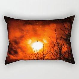 Burning Moon Rectangular Pillow