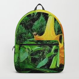 TROPICAL GOLDEN ANGEL TRUMPET FLOWERS Backpack