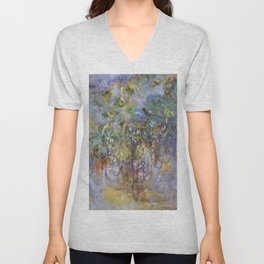 "Claude Monet ""Wisteria"", 1919-1920 Unisex V-Neck"