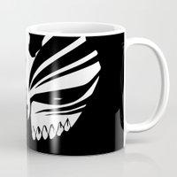 bleach Mugs featuring Bleach- Ichigo Kurosaki Hollow Mask by Ren Flexx