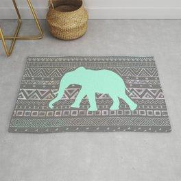 Mint Elephant  Rug