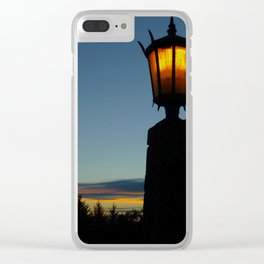 Medieval Sunset Clear iPhone Case