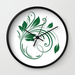 A leaf Wall Clock