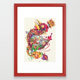 coq Framed Art Print