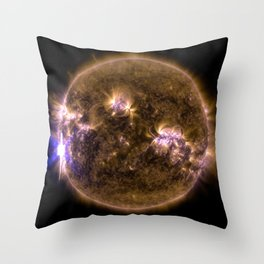 1094. NASA's SDO Shows Images of Significant Solar Flare Throw Pillow