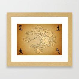 Avatar Last Airbender Map Framed Art Print