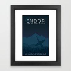 Star Wars Endor Framed Art Print